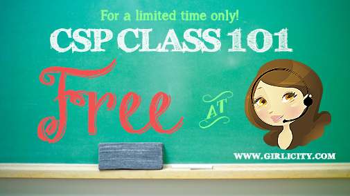 For a limited time only! CSP Class 101 Free at Girlicity.com